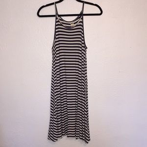 Old Navy Blue & White Stripe Racerback Dress Small